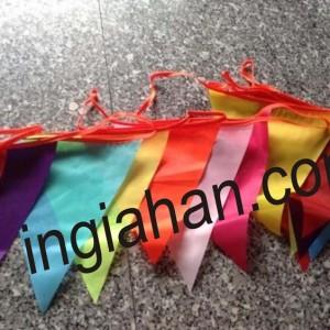 cờ dây tam giác nhiều màu