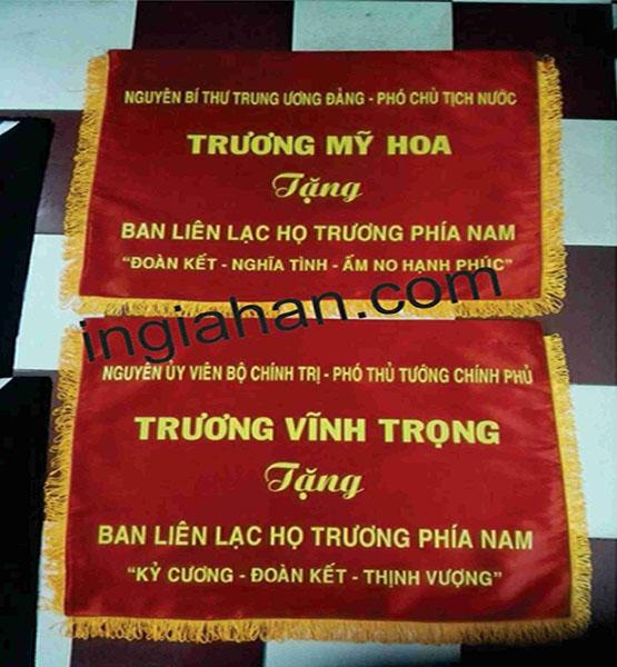 cờ lưu niệm phó CT Nước Truong mỹ hoa